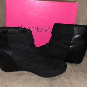 Shoedazzle Ankle Wedge Booties